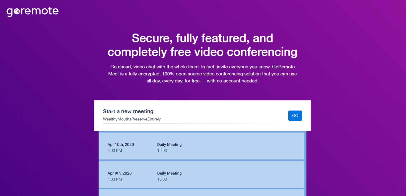 Prilagođeni URL-ovi za sastanke